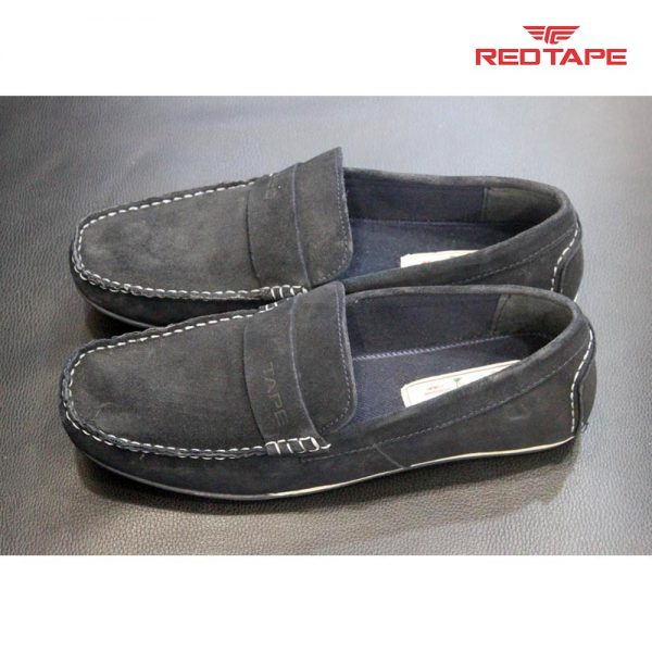 Red Tape Black Casual Loafers - ORCHIDS