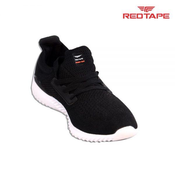 Red Tape Men Black Textile Walking